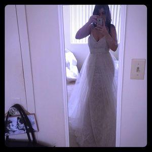 Lazaro wedding dress with overskirt sample size